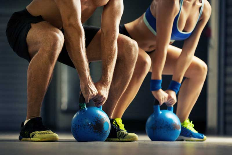 Kettlebell Fitness Exercise